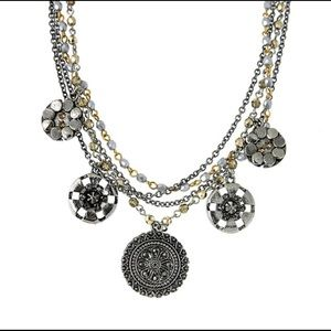 Stunning Multi-Chain Medallion Necklace, NWT